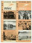 B O A C Route Map UK to USA Speedbird Route 1946 British Overseas Air Corp