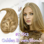 100% Virgin Human Hair Mono Silk Base Frontal Topper Hairpiece Toupees Wigs P185