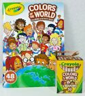 2 Crayola COLORS of the WORLD Coloring/Activity Book and/or Crayons Diversity