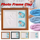 Baby Hand  Foot Print Clay Cast Kit  2 Photo Picture Frame Christening