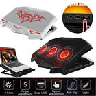 LED Laptop Cooling Pad Cooler Stand Coolpad Fan Mat External Notepad