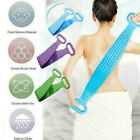 Silicone Back Sided Scrubber Body Cleaning Tools Dual Sided Belt Massage Brush