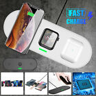 Qi Wireless Fast Charging Pad Charger Mat Station Dock For iWatch iPhone Android
