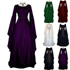 Halloween Retro Renaissance Gothic Costume Medieval Witch Cosplay Party Dresses