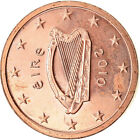 [#765975] IRELAND REPUBLIC, 2 Euro Cent, 2010, UNZ, Copper Plated Steel, KM:33