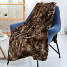 Faux Fur Throw Blanket Plush Soft Warm Sherpa for Bed Couch Sofa Tie-Dyeing Home