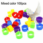 100PCS BIRD RINGS LEG BANDS FOR DOVE PIGEON PARROT POULTRY CLIP RINGS SUPPLIES