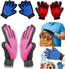 Pet Grooming Glove Deshedding Brush Fur Remover Mitt for Dog Cat 1 Pair