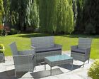 REFURBISHED 4 Piece Rattan Outdoor Furniture Sofa Set Garden Conservatory