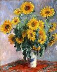 Bouquet of Sunflowers By Claude Monet Painting Art Paint By Numbers Kit DIY