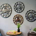 Roman Number Wooden Wall Clock Vintage Mechanical Clock Art Decor Home Office