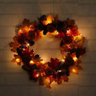 Halloween Decor Fall Door Pumpkin Wreath Autumn Maple Leaf Garland Home Decor US
