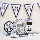 Happy Birthday Tableware Decor Panda Theme Popcorn Box Tablecloth Banners
