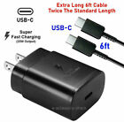 25w Type USB-C Super Fast Wall Charger + 6ft Cable Samsung Galaxy S20 5G Ultra