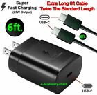 25w Type USB-C Super Fast Wall Charger+6FT Cable For Samsung Galaxy S20 S21 5G