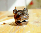 Jaguar Cat Tiger carved golden obsidian gemstone from Mexico PENDANT stone 50mm