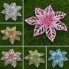 2pcs Hollow Christmas Flower Christmas Decor Flowers Party New Simulation Flower