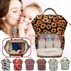 LEQUEEN Mummy Backpack Large Maternity Baby Nappy Diaper Nursing Handbag /