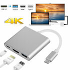 3In1 Hub Adapter USB C Type C 3.1 to 4K HDMI + USB 3.0 + PD For Laptop Macbook