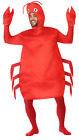 Adults Ladies Mens Red Crab Under The Sea Animal Fancy Dress Costume Outfit