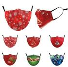 Christmas Printed Face Mask0 Mouth Protection Cover Breathable Reusable Unisex