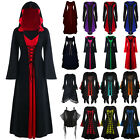 Womens Renaissance Medieval Cosplay Gothic Witch Dress Robe Halloween Costume /.