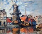The Windmill Onbekende Gracht By Claude Monet Painting Paint By Numbers Kit DIY