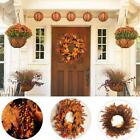 Autumn Maple Leaf Halloween Home Door Decor Garland High-quality Wreath R7K8