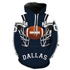 Dallas Cowboys check printed Pullover Pocket Casual Unsex Hoodie S-3XL 2178