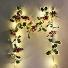 Halloween LED Light Autumn Fall Maple Leaves Garland Hanging Plant Home Decors