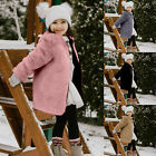 Toddler Baby Kids Girls Solid Windproof Winter Fleece Coat Thicken Warm Outwear