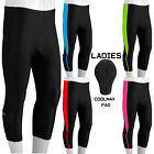Women Cycling Tights 3/4 Shorts Padded Ladies Leggings Cool Max Anti Bac Pad