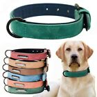 Dog Collar Leather Extra Large Small Medium Pink Blue Double Layer S/M/L Dog