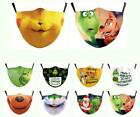 Christmas How The Grinch Face Mask Reusable Washable Breathable Mouth Protective