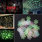 Home Decoration Wall Stickers Night Light Fluorescent Snowflake Decals Wall Art