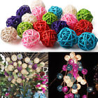 10pcs Dia 3cm Rattan Wicker Balls For Xmasdecor Ornaments Vase Fillers Bird Toys