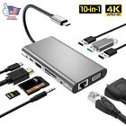 Multiport USB-C HUB to 4K HDMI USB 3.1 3.0 Aux Adapter For MacBook Pro Dell XPS