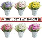 Artificial Potted Daisy Flowers Fake Plants In Pot Outdoor Home Garden Decor D6