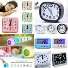 Portable Small Digital Snooze Battery Mini Alarm Clock Bedside Desktop Decors