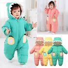 Toddler Infant Girls Boys Winter Snowsuit Hooded Romper Jacket Coat Jumpsuit