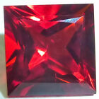 Lab Created Helenite Square Faceted Loose Gemstones Fine Cut AAA