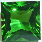 Lab Created Helenite Square Princess Faceted Loose Gemstones Fine Cut AA+