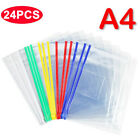 24pcs Pvc Zipper Bag Transparent File Bag With Waterproof Stationery A4 Paper X