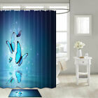 Blue Fantasy Butterfly Shower Curtain Bathroom Decor Fabric 12hooks 71in