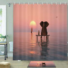 Lonely Elephant And Dog Shower Curtain Bathroom Decor Fabric 12hooks 71in