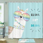 Funny Alpaca Shower Curtain Bathroom Decor Fabric 12hooks 71in