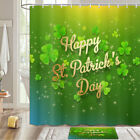 Happy St. Patrick Shower Curtain Bathroom Decor Fabric 12hooks 71in