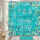 Happy Easter Shower Curtain Bathroom Decor Fabric 12hooks 71in