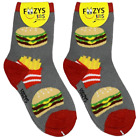 Hamburger & Fries Foozys Boys Kids Crew Socks