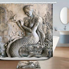 Mythical Goddess Relief Shower Curtain Bathroom Decor Fabric 12hooks 71in